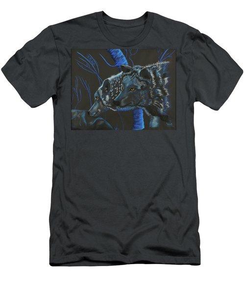 Blue Wolves Men's T-Shirt (Athletic Fit)