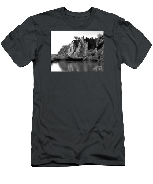 Men's T-Shirt (Slim Fit) featuring the photograph Bluffers Park Toronto Canada by Susan  Dimitrakopoulos