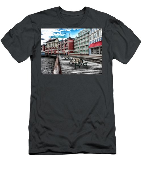 Boardwalk Early Morning Men's T-Shirt (Slim Fit) by Thomas Woolworth