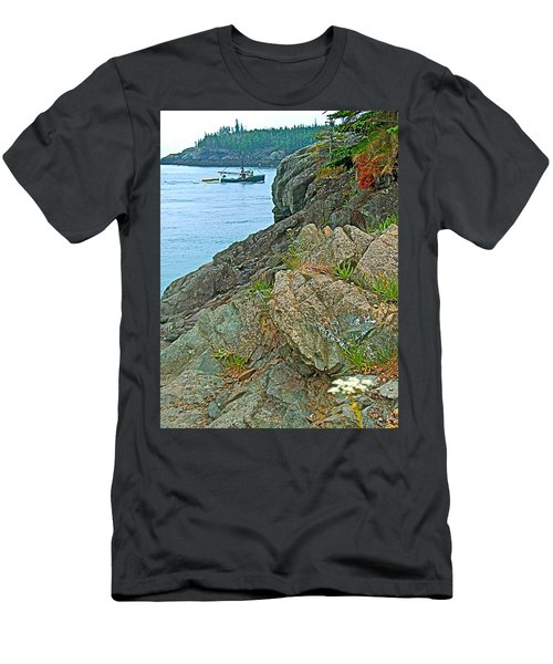 Boat By East Quoddy Bay On Campobello Island-nb Men's T-Shirt (Athletic Fit)