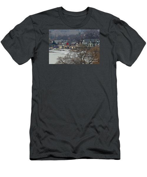 Philadelphia's Boat House Row  Men's T-Shirt (Slim Fit) by Cindy Manero