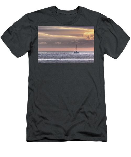 Boat Mooring Off Nairn Beach Men's T-Shirt (Athletic Fit)