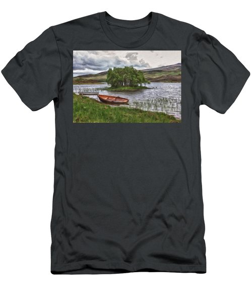 Boat On Lake Bank 1929 Men's T-Shirt (Athletic Fit)