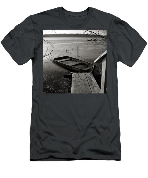 Boat In Ice - Lake Wingra - Madison - Wi Men's T-Shirt (Athletic Fit)