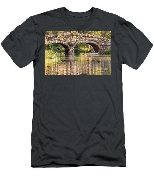 Boaters Under The Bridge Men's T-Shirt (Athletic Fit)