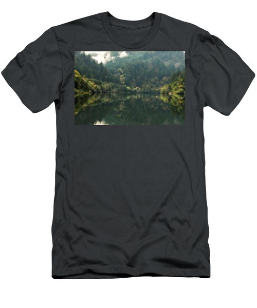 Men's T-Shirt (Slim Fit) featuring the photograph Boathouse by Katie Wing Vigil