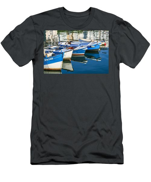 Boats At Anchor Men's T-Shirt (Athletic Fit)