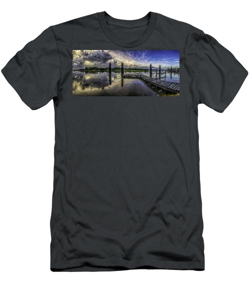 Men's T-Shirt (Slim Fit) featuring the digital art Bon Secour Panorama by Michael Thomas