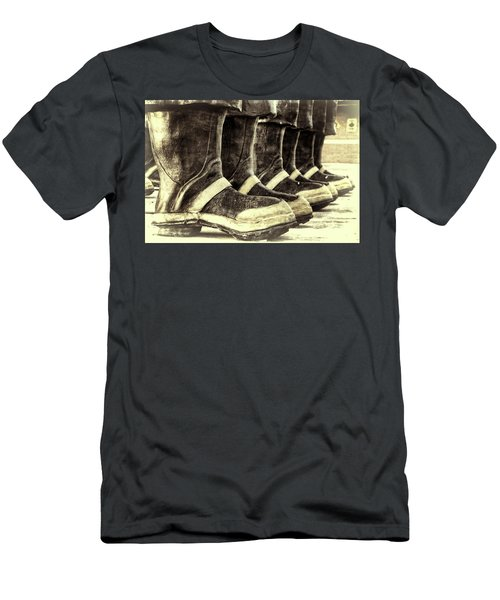 Boots On The Ground Monotone Men's T-Shirt (Athletic Fit)