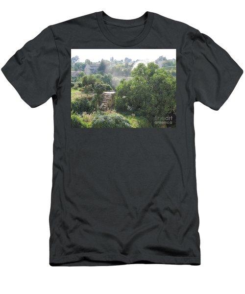 Men's T-Shirt (Slim Fit) featuring the photograph Bordeaux Village Cloud Of Smoke  by HEVi FineArt