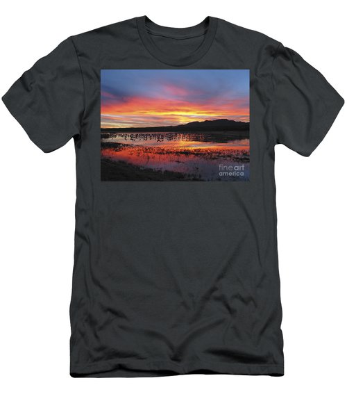 Bosque Sunset I Men's T-Shirt (Athletic Fit)