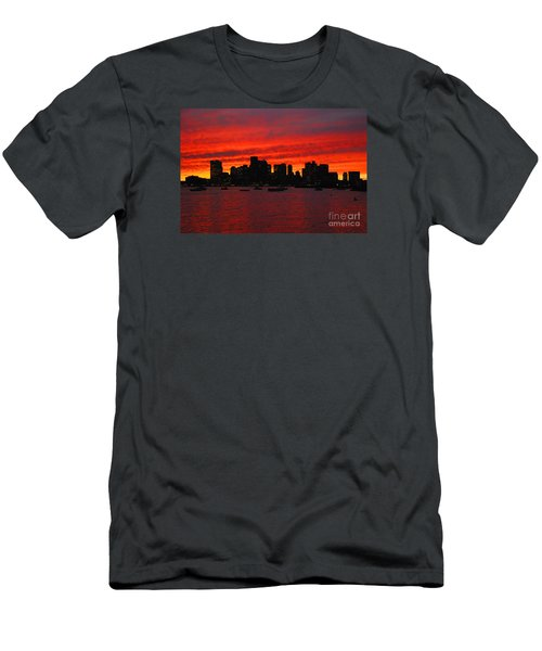 Boston City Sunset Men's T-Shirt (Athletic Fit)