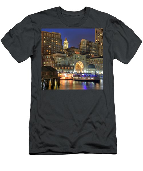 Boston Harbor Party Men's T-Shirt (Slim Fit) by Joann Vitali