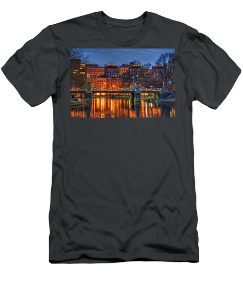 Boston Public Garden Lagoon Men's T-Shirt (Slim Fit) by Joann Vitali