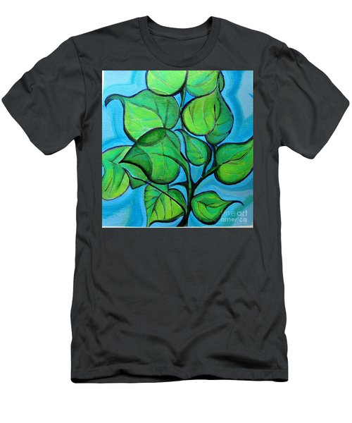Botanical Leaves Men's T-Shirt (Athletic Fit)