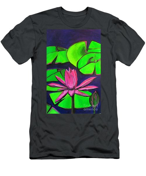 Botanical Lotus 1 Men's T-Shirt (Athletic Fit)