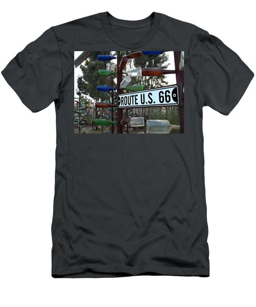 Bottle Trees Route 66 Men's T-Shirt (Athletic Fit)