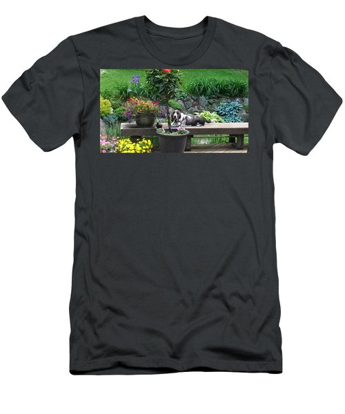 Bowie In The Garden Men's T-Shirt (Athletic Fit)