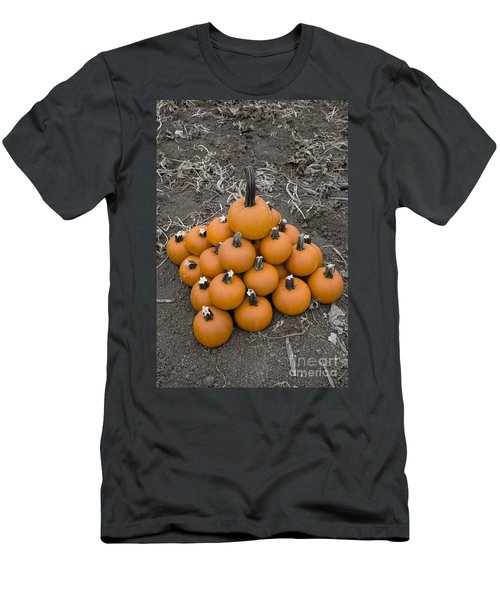 Men's T-Shirt (Slim Fit) featuring the photograph Bowling For Pumpkins by David Millenheft