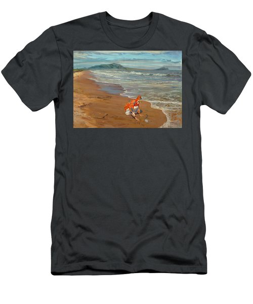 Boy At The Seashore Men's T-Shirt (Athletic Fit)