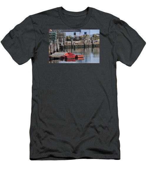 Men's T-Shirt (Slim Fit) featuring the photograph Bradley Wharf Dinghies by Mike Martin