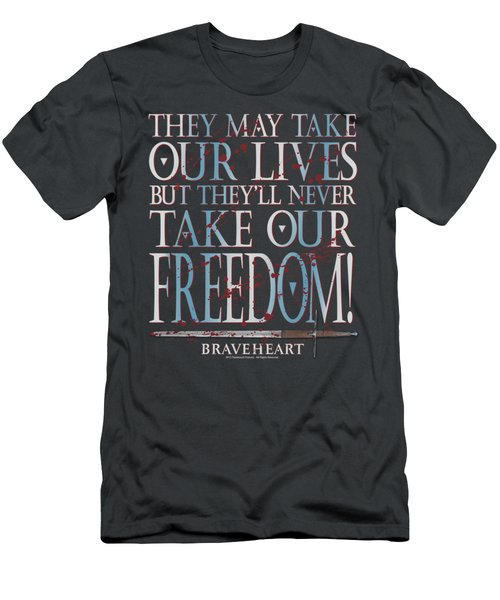 Braveheart - Freedom Men's T-Shirt (Athletic Fit)