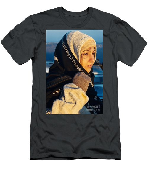 Men's T-Shirt (Slim Fit) featuring the photograph Braving The Cold by Fotosas Photography