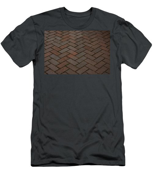 Brick Pattern Men's T-Shirt (Athletic Fit)