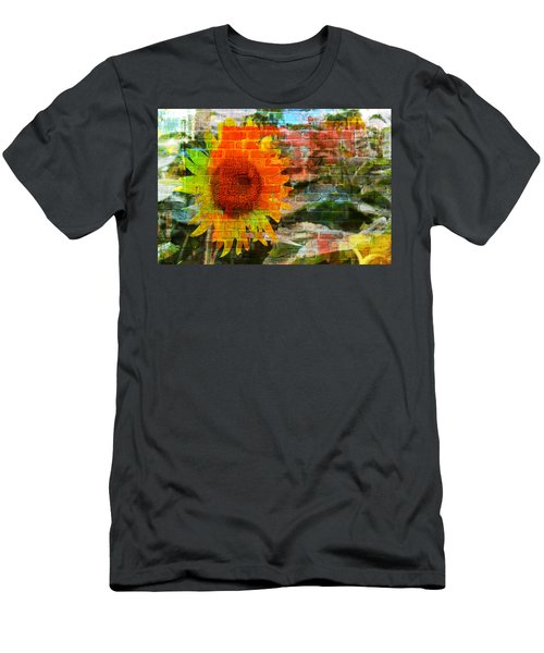 Bricks And Sunflowers Men's T-Shirt (Athletic Fit)