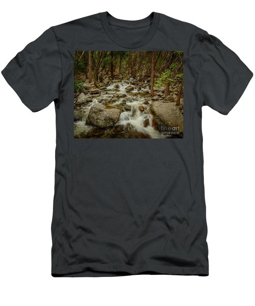 Bridalveil Creek In Yosemite Men's T-Shirt (Athletic Fit)