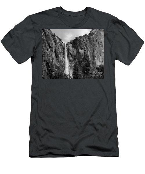 Bridalveil Falls In B And W Men's T-Shirt (Athletic Fit)