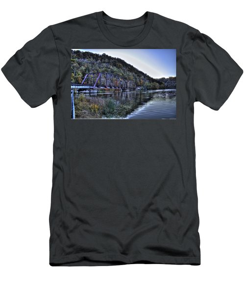 Bridge On A Lake Men's T-Shirt (Athletic Fit)