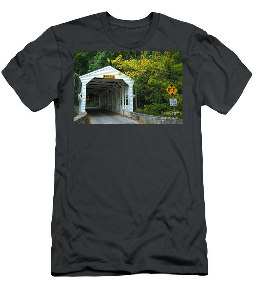 Men's T-Shirt (Slim Fit) featuring the photograph Bridge On Route 252 In Valley Forge by Rima Biswas