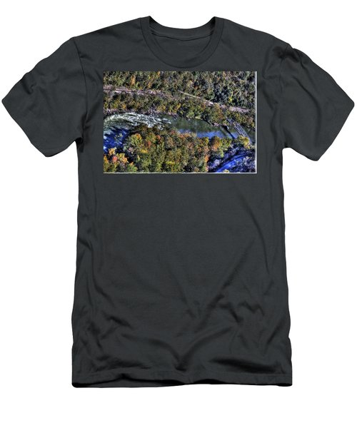 Bridge Over River Men's T-Shirt (Athletic Fit)
