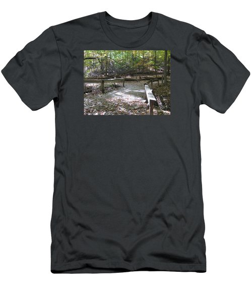 Bridge To The Forest Deep Men's T-Shirt (Athletic Fit)