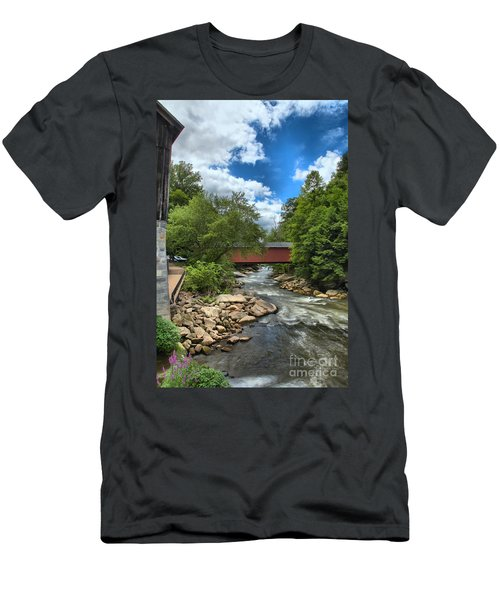 Bridging Slippery Rock Creek Men's T-Shirt (Athletic Fit)