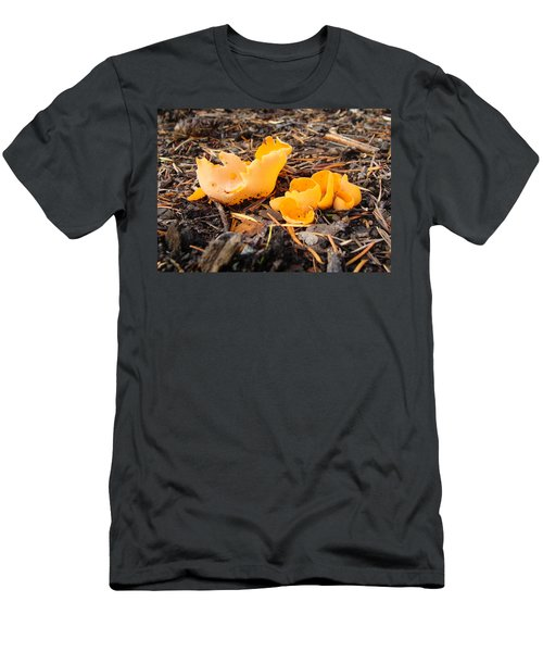Men's T-Shirt (Slim Fit) featuring the photograph Brilliance In Orange by Cheryl Hoyle