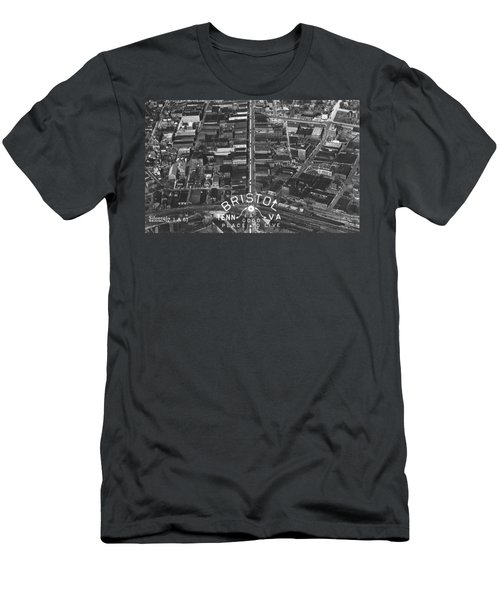 Bristol Virginia Tennessee Early Aerial Photo Men's T-Shirt (Athletic Fit)