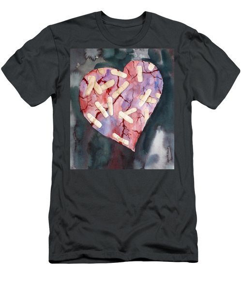 Broken Heart Men's T-Shirt (Athletic Fit)