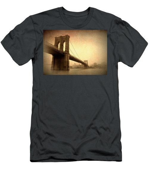 Brooklyn Bridge Nostalgia II Men's T-Shirt (Athletic Fit)