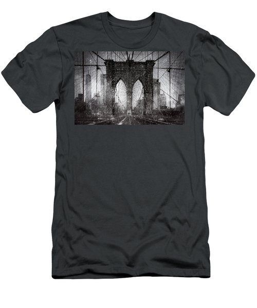 Brooklyn Bridge Snow Day Men's T-Shirt (Athletic Fit)