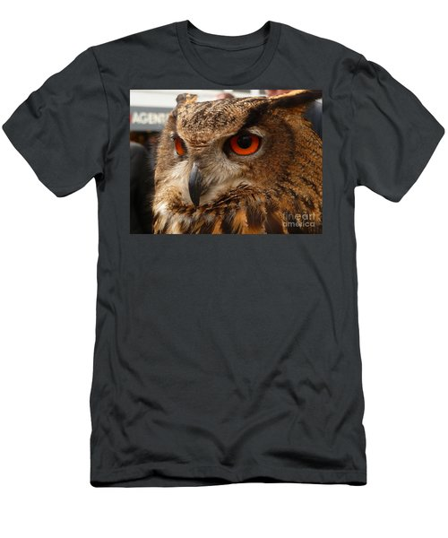 Men's T-Shirt (Slim Fit) featuring the photograph Brown Owl by Vicki Spindler