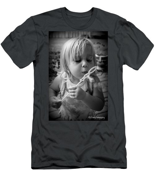 Men's T-Shirt (Slim Fit) featuring the photograph Bubble Fun by Laurie Perry