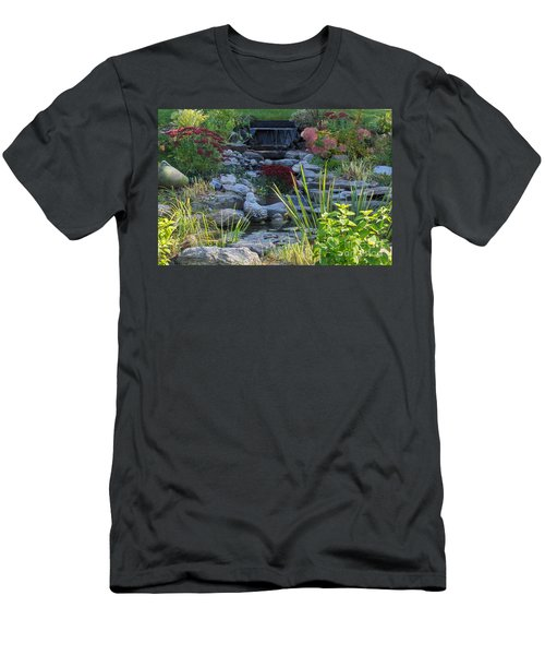 Men's T-Shirt (Slim Fit) featuring the photograph Buddha Water Pond by Brenda Brown