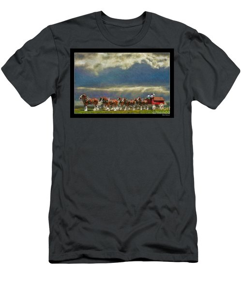 Budweiser Clydesdale Paint 2 Men's T-Shirt (Athletic Fit)