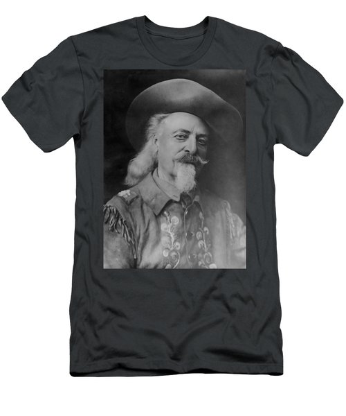 Men's T-Shirt (Slim Fit) featuring the photograph Buffalo Bill Cody by Charles Beeler