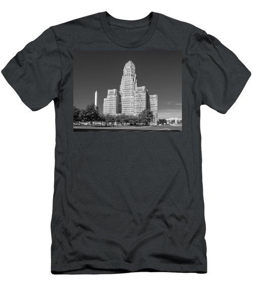 Buffalo City Hall 0519b Men's T-Shirt (Slim Fit) by Guy Whiteley