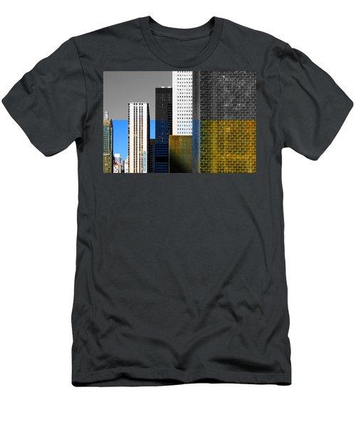 Building Blocks Cityscape Men's T-Shirt (Athletic Fit)