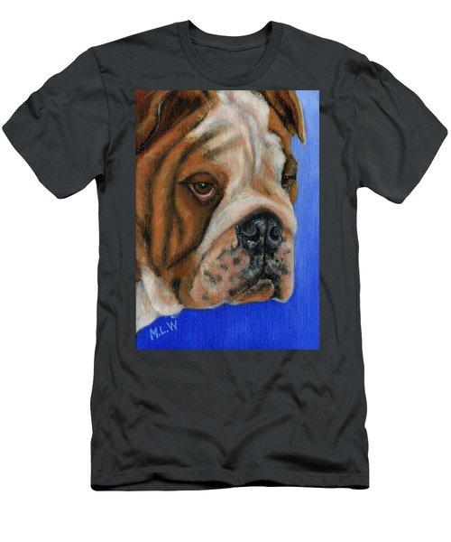 Beautiful Bulldog Oil Painting Men's T-Shirt (Athletic Fit)
