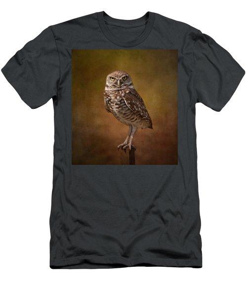 Burrowing Owl Portrait Men's T-Shirt (Athletic Fit)